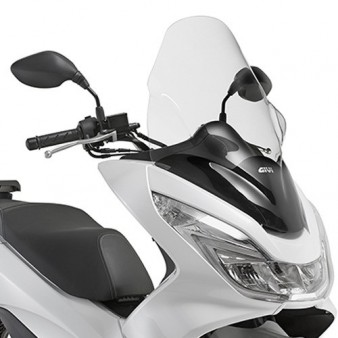 bulle pare brise givi incolore pour honda pcx 125 et 150. Black Bedroom Furniture Sets. Home Design Ideas